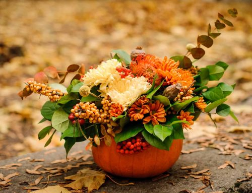 How to Use  Pumpkins, Flowers, and Fall Accents to Decorate For Halloween